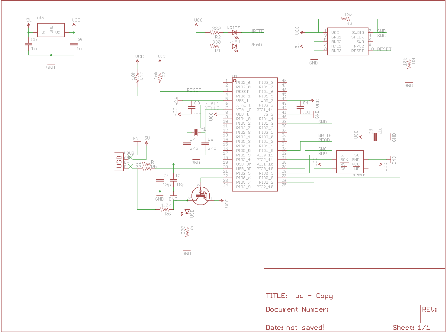 Usb Business Card Brian Carrigan Schematic